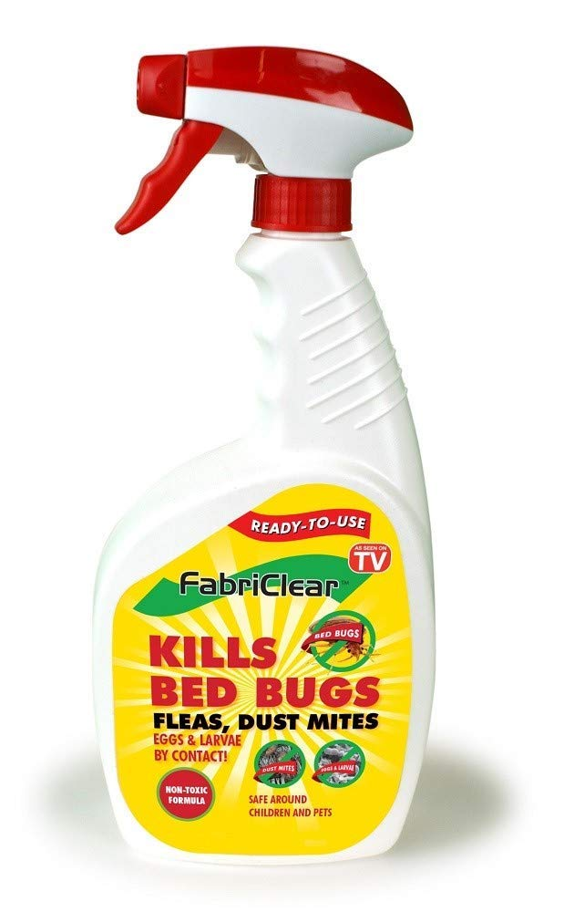 FabriClear Bed Bug, Dust Mite and Flea Killer Spray - Non-Toxic - 16oz Plus 2oz Travel Size