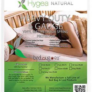 Hygea Natural Vinyl Waterproof Bed Bug Mattress Protector Queen Size